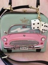 KATE SPADE NWT CHECKING IN CAR VIOLINA PURSE BAG CLUTCH PINK CADILLAC CAR - $15.932,01 MXN