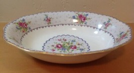 "Royal Albert Petit Point 9"" Oval Vegetable Bowl Needlepoint Floral England - $23.36"