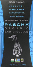 PASCHA: Organic Dark Chocolate 55% Cacao, 3.5 oz - $13.00