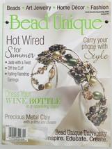 Bead Unique Magazine #9 Summer 2006 Art Jewelry Home Decor Fashion DIY C... - $6.89