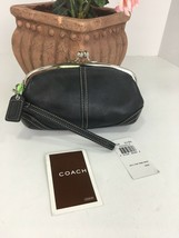 New Coach Soho 3438 Leather Curved Framed Kisslock Wristlet Evening Bag B27 - $98.95