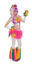 Rainbow Unicorn Fantasy Animal Fancy Dress Up Halloween Sexy Adult Costume - $58.53