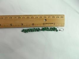 VINTAGE SILVER TONE GREEN BEADS PIERCED Dangle SINGLE Earrings FASHION (O) - $7.02