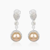 Pink Pearl Gemstone 925 Sterling Silver Designer Earrings Jewelry - $30.69