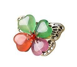 Retro Four-leaf Clover Shaped Brooch Pin Clothing Accessories Decorations