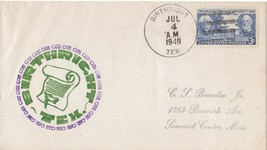 An Original 1949 Souvenir cover from Birthright Texas . July 4th Interes... - $7.92