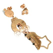 Drop Earrings 925 Silver, Carriage, Shoe, Magic Wand, le Favole image 3