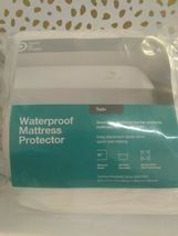 Made By Design Fitted Mattress Protector, Size Twin - White -  new- image 3