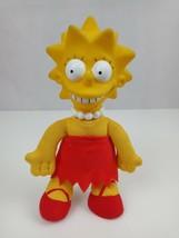 "Vintage 1990 The Simpsons Lisa Simpsons 8"" Plush W/ Vinyl Face Burger King Toy - $10.69"