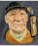 """The Golfer D6623 Royal Doulton Character Toby Jug Large 8"""" David Biggs - $39.95"""