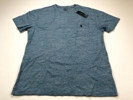 Polo Ralph Lauren S Crewneck Pocket T-Shirt Heather Blue Men's Small NEW NWT - $29.99