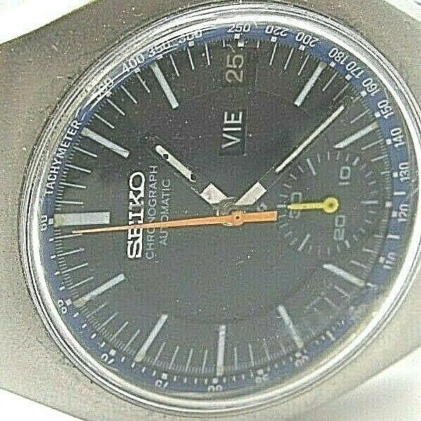 SEIKO VINTAGE 6139-7002 AUTOMATIC CHRONOGRAPH COMPLETE SERVICED sports band image 2