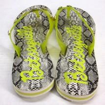 Betseyville Signature Snake Print Pyramid Studded Thong Sandals Women's Size (9) - $19.80
