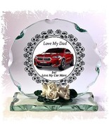 BMW Red Car 'I Love My Dad' Fathers Day Design Cut Glass Round Plaque Fr... - $32.07