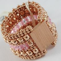 Silver Ring 925 Gold Plated Pink, Jersey and Balls, Pink Quartz image 5