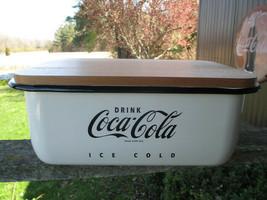 Coca-Cola Enamel Ware Bread Box Drink Coca-Cola Ice Cold BRAND NEW - $65.34
