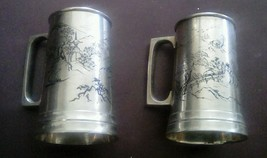 Set of 2 CPO Central Purchasing Office Occupied Japan Silverplated Mugs - $60.54