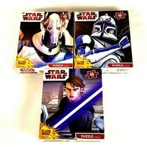 Star Wars Clone Wars 3 Puzzle Pack Jigsaw Skywalker 48 Pieces Each - $29.09
