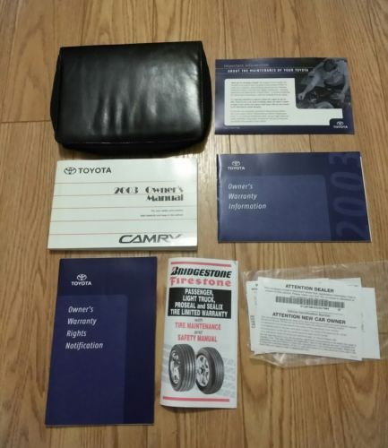 Primary image for 2003 Toyota Camry Owners Manual With Leather Case Excellent