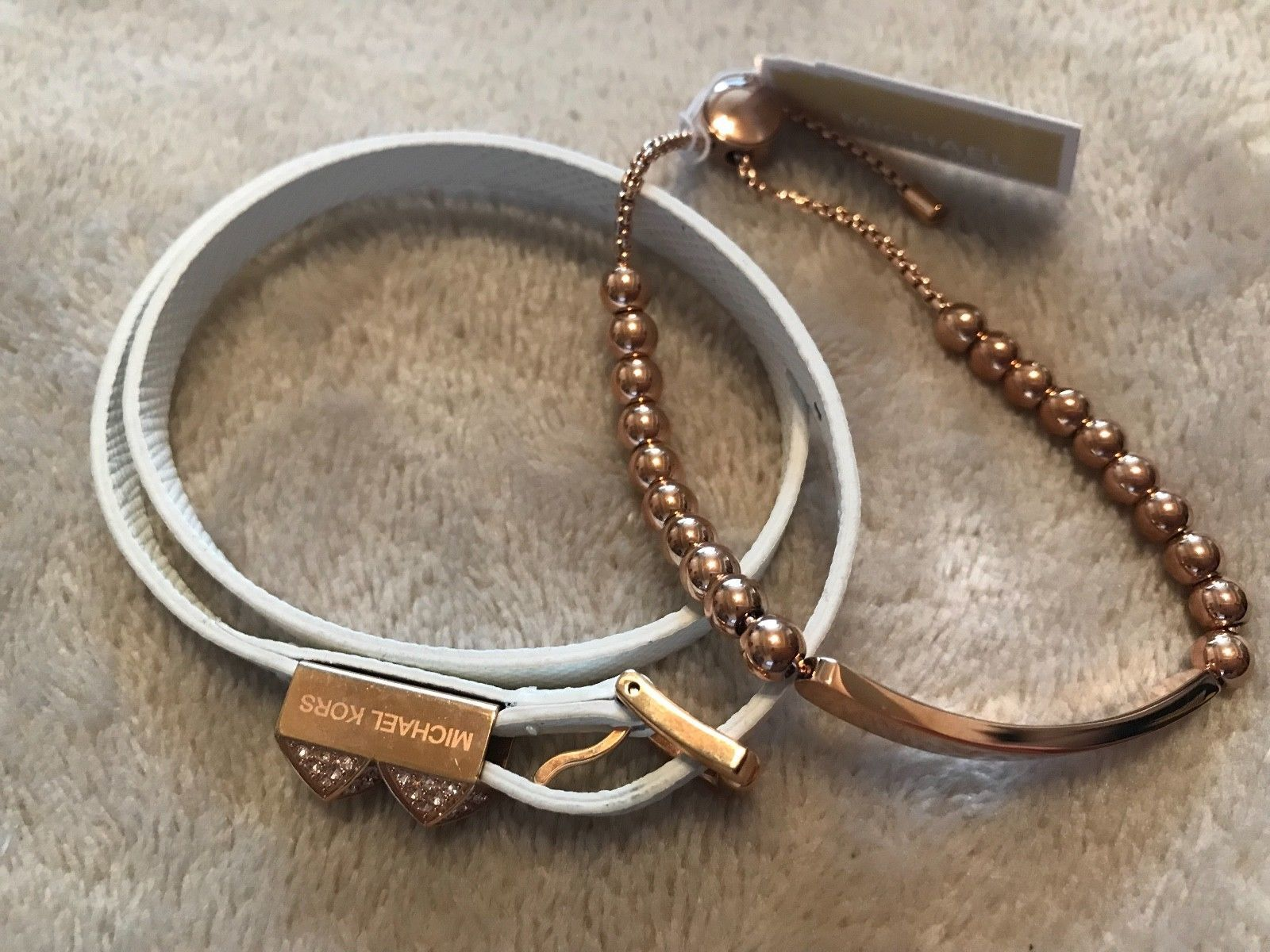 8ad242d9b9208f Set of 2 x Michael Kors Rose Gold Pave and 50 similar items