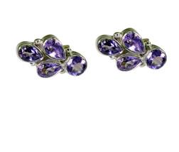 elegant Amethyst 925 Sterling Silver Purple Earring genuine exporter US ... - $11.87