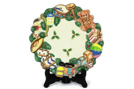 "Fitz and Floyd Holiday Christmas Toyland Canape Dish Plate 8 3/4"" 2070/1... - $29.69"