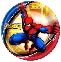 Spider-Man Spider Sense Lunch Plates 8 Per Package Spiderman Party Suppl... - $4.21