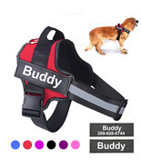 Personalized Dog Harness NO PULL Pet Reflective Soft Breathable Adjustab... - $23.00+