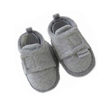 Set of 2 GRAY Comfortable Newborn Shoes Cotton Shoes Baby Toddler Soft Sole Shoe
