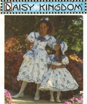 Childs Daisy Kingdom Scallop Hem Dress Hat Purse Hairbow Sew Pattern 3-6 Uncut - $13.99