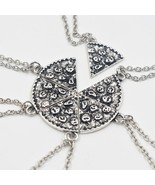 6pcs Pizza Pendant Necklaces Friendship Necklace Best Friends Forever Cr... - $9.76