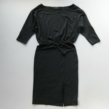 NWT by | Anthropologie Knit Column in Carbon Gray Boatneck Blouson Dress S - $42.00