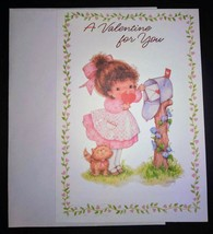 """New greeting card """"A Valentine for you"""" little girl - $5.00"""