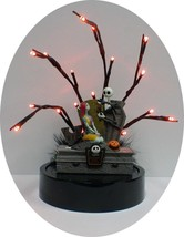 Nightmare before Christmas Wedding Cake topper Sally Jack DISNEY Halloween LED P - $147.51