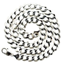 Mens Italian Cuban Link 10K White Gold 30 in Chain 78 grams 11 mm Necklace - $4,193.00