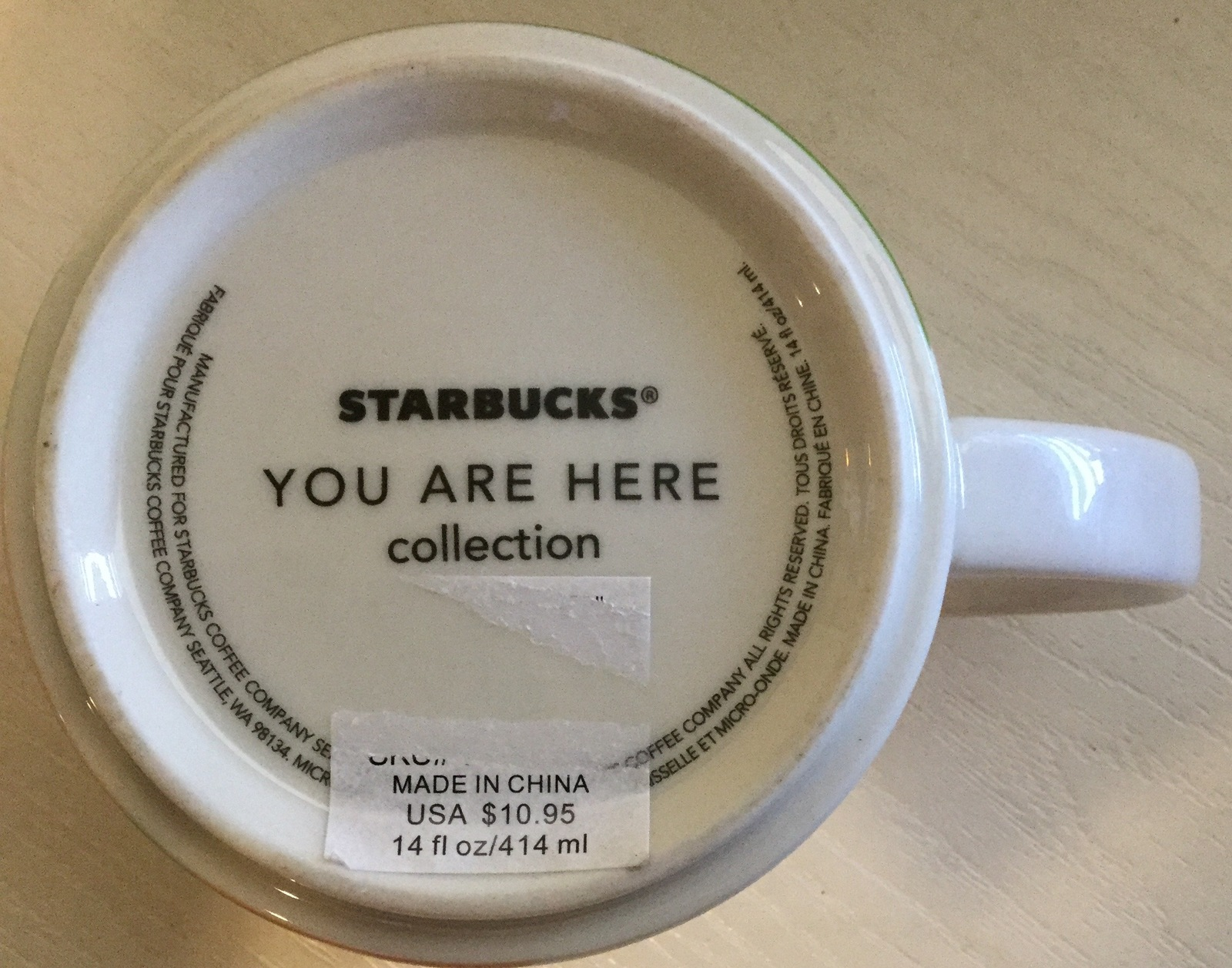 starbucks 14 ounce you are here collection dallas from 2013 mugs. Black Bedroom Furniture Sets. Home Design Ideas
