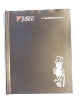 Vintage 1970's Planters Peanut Mr Peanut Employee Black Vinyl Binder Cover - $6.95