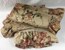 Vintage Ralph Lauren GUINEVERE Queen Flat Sheet & 2 Ruffled Euro Shams - $69.95
