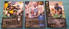 1996 Pinnacle football lot of 3 cards: Barry Sanders, Bobby Engram image 2