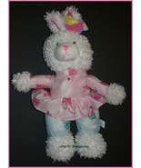 Snuggles Toys Bunny Rabbit Plush Pink Blue Outfit w/Tag - $24.72