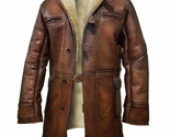 The Dark Knight Rises Tom Hardy Bane Shearling Faux Leather Trench Coat Jacket - £75.21 GBP