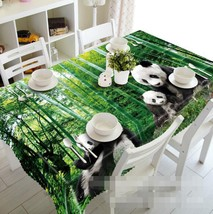 3D Bamboo Panda 18 Tablecloth Table Cover Cloth Birthday Party Event AJ ... - $58.22+