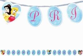 Disney Princess Fairytale Friends Plastic Banner Over 8 Feet Party Suppl... - $2.23