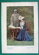 VICTORIAN COUPLE Latest Fashion - 1901 Offset Litho Print COLOR - $6.42