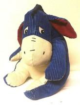 Eeyore Blue Corduroy Ribbed Plush Winnie the Pooh Disney Store Orig Store Tag - $34.99