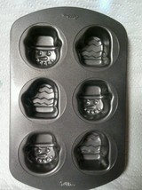 Wilton Holiday 6-Cavity Nonstick Mini Snowman and Mitten Cake Pan - $16.55