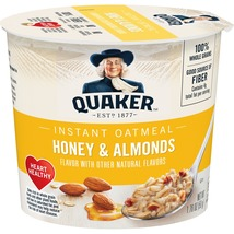 Quaker Instant Oatmeal Express Cup, Honey & Almond, 1.76 Oz  4 Cups - $8.00