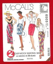 Mccalls 6503 Misses' Mock Sarong PULL-ON Skirt In 2 Lengths (Size X-SMALL, Small - $14.70