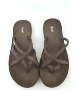 Teva Mush Oluwah flip flop sandals brown womens 10 - $18.69