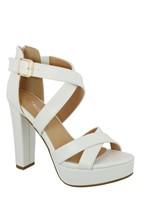 Top Moda Lovely-86 Women's Peep Toe Platform Chunky High Heel Closed Bac... - $22.80+